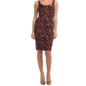 Trina Turk dress. Leopard with pink.